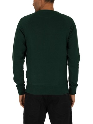 Gant Shield Sweatshirt - Tartan Green