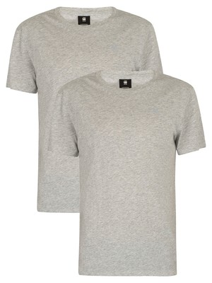 G-Star 2 Pack Crew T-Shirt - Grey Heather