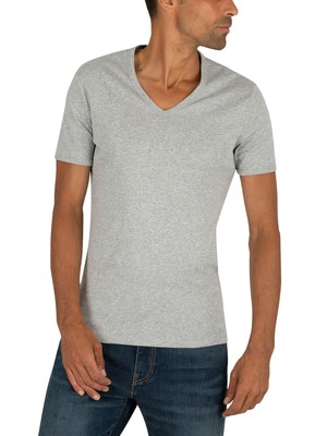 G-Star 2 Pack Slim V-Neck T-Shirt - Grey Heather