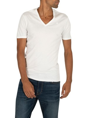 G-Star 2 Pack Slim V-Neck T-Shirt - White