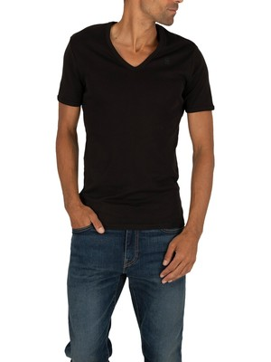 G-Star 2 Pack Slim V-Neck T-Shirt - Black