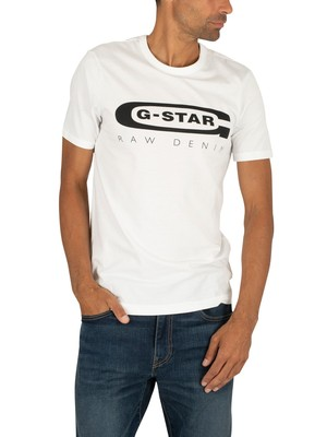 G-Star Graphic Slim T-Shirt - White