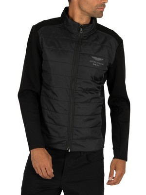 Hackett London AMR Nylon Quilt Jacket - Black
