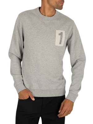 Hackett London Archive Sweatshirt - Grey Marl