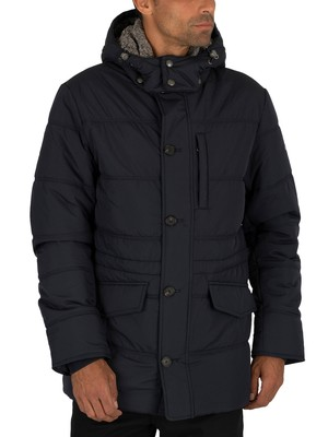 Hackett London Polar Fleece Anorak Jacket - Navy