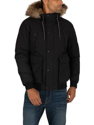 Jack & Jones Explore Bomber Jacket - Black