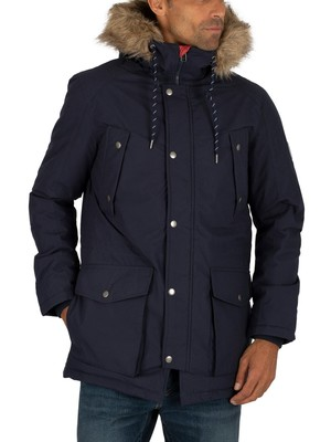 Jack & Jones Explore Parka Jacket - Navy Blazer