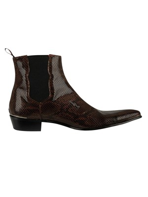 Jeffery West Amdamant Chelsea Leather Boots - Pecan Amazona