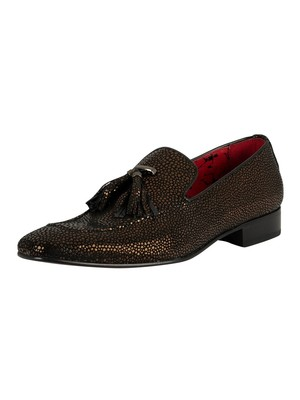 Jeffery West Jung Leather Loafers - Bronze Caviar
