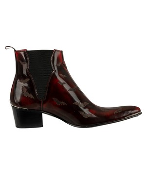 Jeffery West Sylvian Leather Chelsea Boots - Red Polish