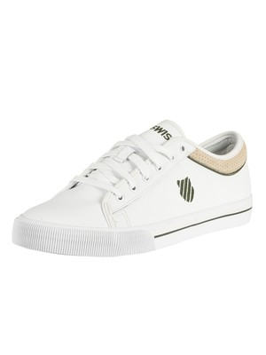 K-Swiss Bridgeport II Leather Trainers - White/Green