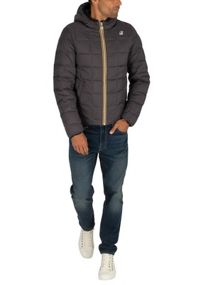 K-Way Jacques Thermo Plus Reversible Jacket - Black/Grey
