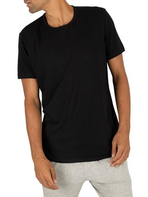 Lacoste 2 Pack Crew Lounge T-Shirt - Black