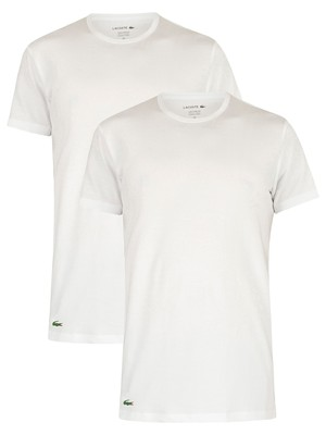 Lacoste 2 Pack Crew Lounge T-Shirt - White