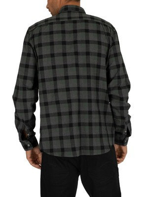 Lacoste Checked Shirt - Green/Black