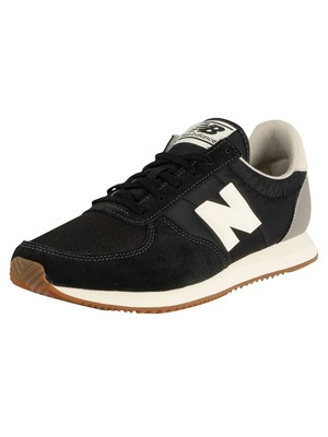 New Balance 220 Suede Trainers - Black/White