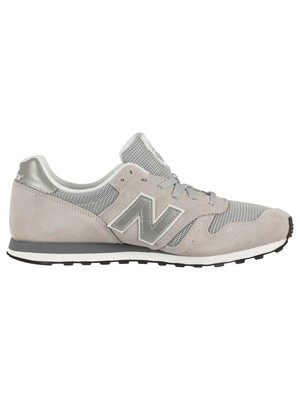 New Balance 373 Suede Trainers - Grey/Silver