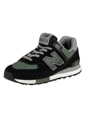 New Balance 574 Suede Trainers - Black