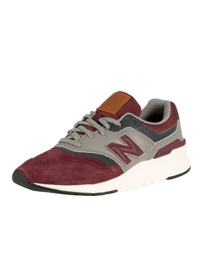 New Balance 997 Leather Trainers - Burgundy/Outerspace