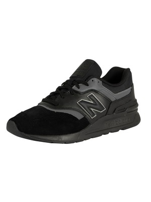 New Balance 997 Leather Trainers - Black/Castlerock