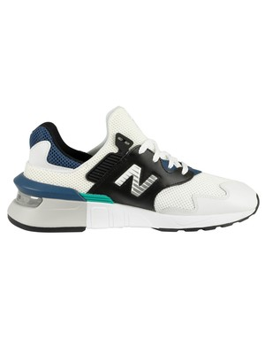 New Balance 997 Sport Trainers - White/Moroccan Tile