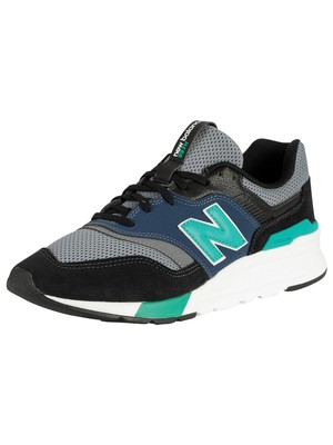 New Balance 997 Suede Leather Trainers - Black/Verdite