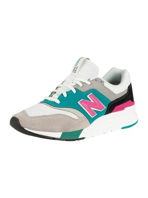 New Balance 997 Suede Leather Trainers - Nimbus Cloud/Verdite