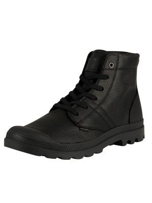 Palladium Pallabrousse Leather Boots - Black/Black