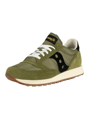 Saucony Jazz Original Vintage Trainers - Olive/Black