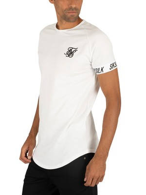 Sik Silk Raglan Tech T-Shirt - White