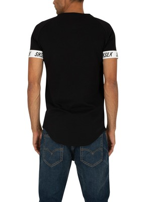 Sik Silk Raglan Tech T-Shirt - Black