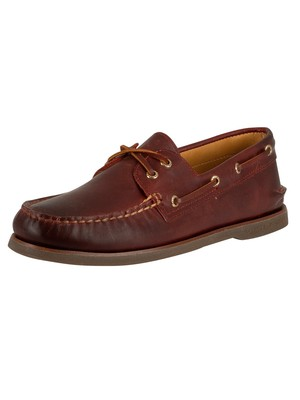 Sperry Top-Sider Gold A/0 2-EYE Boat Shoes - Burgundy