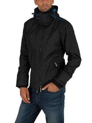 Superdry Popzip Arctic Windcheater Jacket - Black/Super Denby