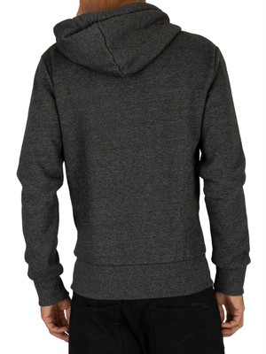 Superdry Sweat Shirt Shop Magma Panel Zip Hoodie - Black Grit