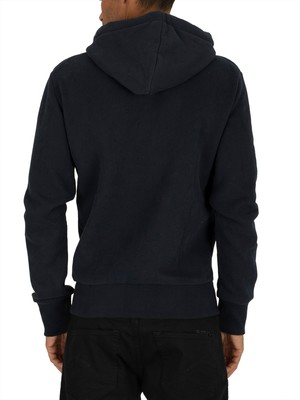Superdry Sweat Shirt Shop Magma Panel Zip Hoodie - Eclipse Navy