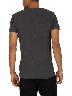 Superdry Vintage Embroidery T-Shirt - Nordic Charcoal Marl