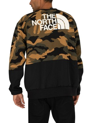 The North Face Graphic Relaxed Sweatshirt - Camo