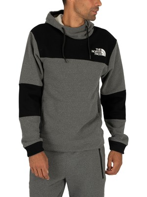 The North Face Himalayan Pullover Hoodie - Medium Grey Heather/Black