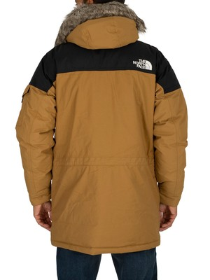 The North Face Logo Parka Jacket - British Khaki