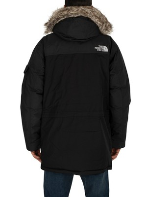 The North Face Logo Parka Jacket - Black