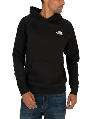 The North Face Raglan Red Box Pullover Hoodie - Black/White