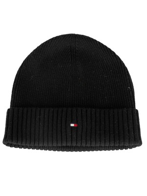 Tommy Hilfiger Pima Cotton Beanie - Black