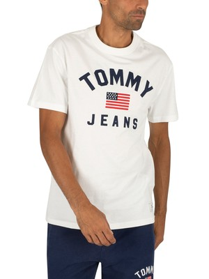 Tommy Jeans USA Flag T-Shirt - Classic White