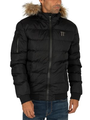11 Degrees Missile Heavy Bomber Jacket - Black