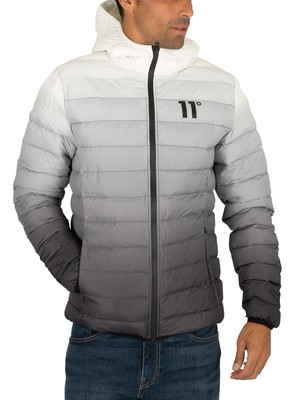 11 Degrees Space Puffer Jacket - Black/White