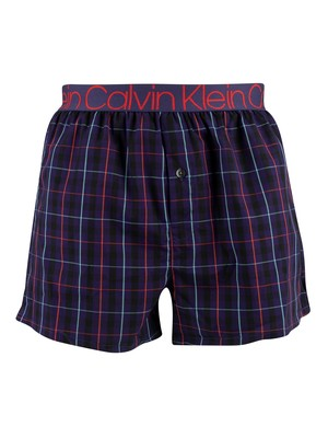 Calvin Klein Compact Flex Trunks - Ducksbury Plaid Astral Aura