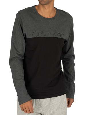 Calvin Klein Graphic Longsleeved T-Shirt - Charcoal Heather
