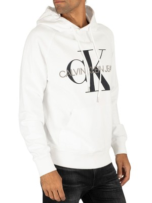 Calvin Klein Jeans Graphic Pullover Hoodie - Bright White