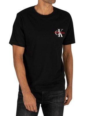 Calvin Klein Jeans Monogram Embroidery T-Shirt - Black