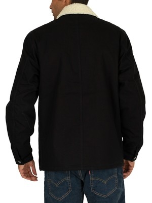 Carhartt WIP Fairmount Sherpa Jacket - Black Rigid